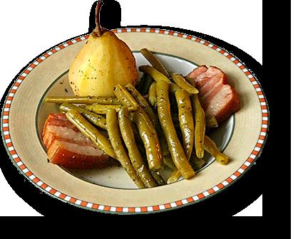 Birnen Bohnen Und Speck Kitchnde Butter Bei Die Fische